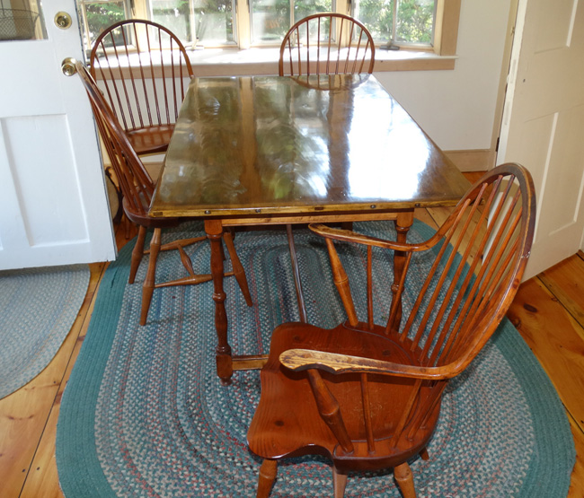 D. R. Dimes Table And 4 Chairs; ...