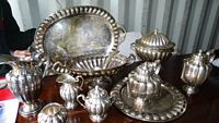 14pc Margode sterling table service,(approx 600 oz)