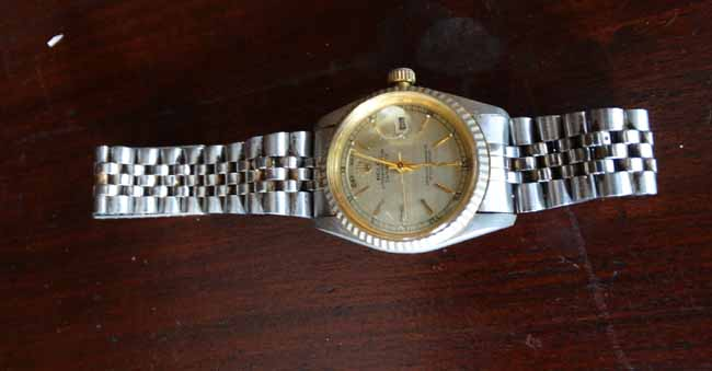 gold lot with watches; sterling jewelry; 125 pc sterling flatware set; approx 130 pcs sterling flatware; 1926 $2 1/2 gold coin; 2 Oyster Perpetual day date ... & BILL SPICER AUCTION WEDNESDAY AUGUST 26 2015 6:00 PM ...